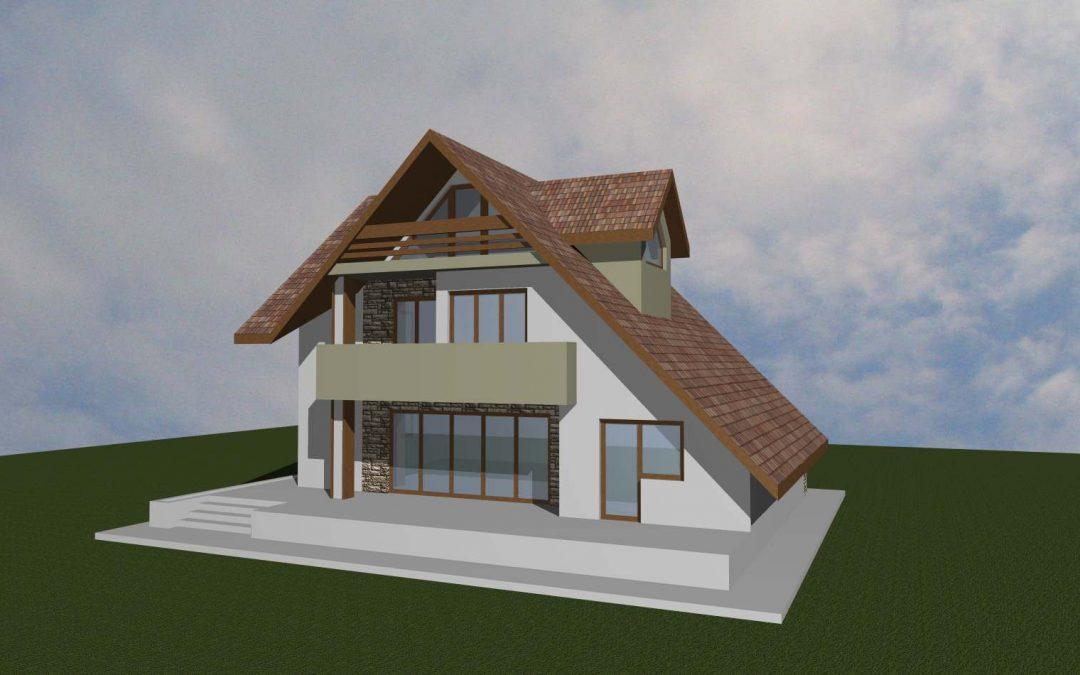 Casa pe 3 nivele