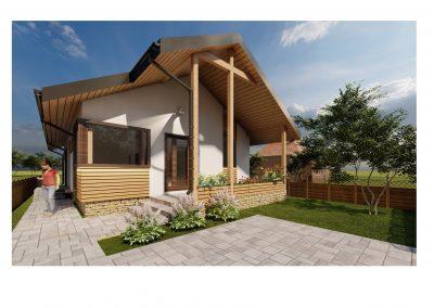 Casa Uno cu terasa 110m2